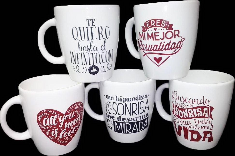 Fabricacion frases de amor diverthia for Decoracion con tazas de cafe