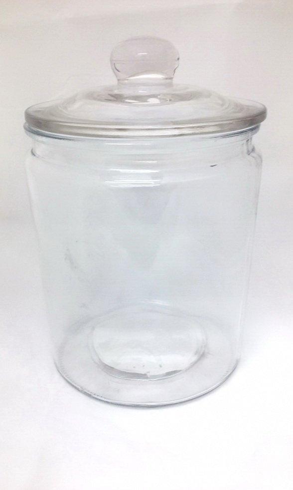 Tarro de vidrio con tapa pompo1900cc diverthia - Tarro cristal con tapa ...